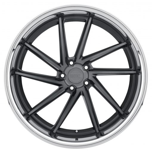 FLORENCE FLORENCE 22X10.5 5X120 Brushed Gun Metal Face Stainless Steel Lip