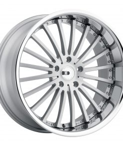 NEW YORK NEW YORK 22X10.5 5X130 Matte Silver Brushed Face Stainless Steel Lip